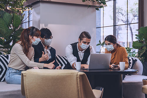 face mask at workplace