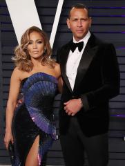 Alex Rodriguez and Jennifer Lopez Vanity Fair Oscar Party, Arrivals, Los Angeles, USA - 24 Feb 2019