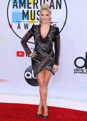 Erika Jayne American Music Awards, Arrivals, Los Angeles, USA - 09 Oct 2018 WEARING BALMAIN