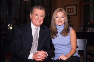 Kelly Ripa with Regis Philbin at the Kelly Ripa Named New Co-host of Live with Regis and Kelly at Abc Studios New York 2001Kelly Ripa Named New Co Host 2001