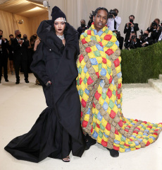 Rihanna and Asap Rocky Costume Institute Benefit celebrating the opening of In America: A Lexicon of Fashion, Arrivals, The Metropolitan Museum of Art, New York, USA - 13 Sep 2021