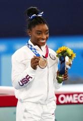 Simone Biles wins the bronze medal - Women's Balance Beam Final Artistic Gymnastics, Ariake Gymnastics Centre, Tokyo Olympic Games 2020, Japan - 03 Aug 2021